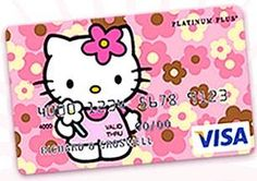 credit cards creative Hello Kitty Credit Card Source by recipes thanksgiving Sanrio Hello Kitty, Hello Kitty Items, Credit Card Images, Credit Card Design, Credit Cards, Credit Score, Postcard Design, Halloween Disfraces, Little Twin Stars