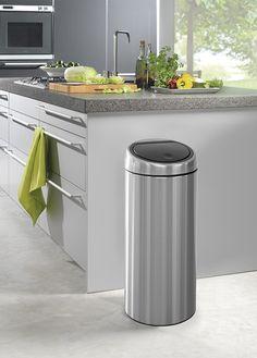 Brabantia Touch Bin Matt Steel 30 L | Nordsee Küchen