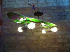 Recycling idea, my skate boarding sons will love this!