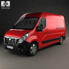 Vauxhall Movano Panel Van 2010 3d model from humster3d.com. Price: $75