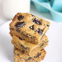 Flourless Peanut Butter Blondies,Baking Desserts clean eating Desserts easy Desserts fruit Desserts healthy Desserts mug cakes Desserts recipes Desserts sweet treats Desserts under 100 calories Desserts videos Healthy Sweets, Healthy Dessert Recipes, Health Desserts, Vegan Desserts, Easy Desserts, Baking Recipes, Delicious Desserts, Heart Healthy Desserts, Healthy Desserts Peanut Butter