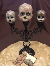 Creepy Doll Morbid Haunted Horror Scary Doll Head OOAK Halloween Prop   &…