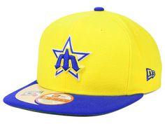 meet ce504 78bb4 Seattle Mariners Yellow Retro Snap back Cap  neweracap  baseball  hat   snapback   · New Era ...