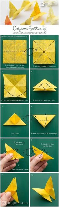 butterfly Origami Easy, Kids Origami, How To Make Origami, Origami Tutorial, Origami Butterfly, Butterfly Party, Butterfly Crafts, Wedding Cards, Card Table Wedding