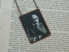 Rudyard Kipling necklace literature jewelry mixed media jewelry