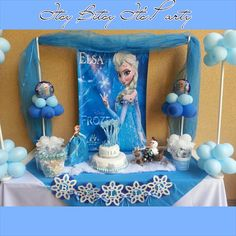 Frozen inspired banner (Frozen garland) (Frozen party decoration) (frozen banner)
