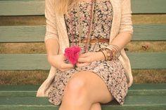 Dress and sweater @Heather Stott