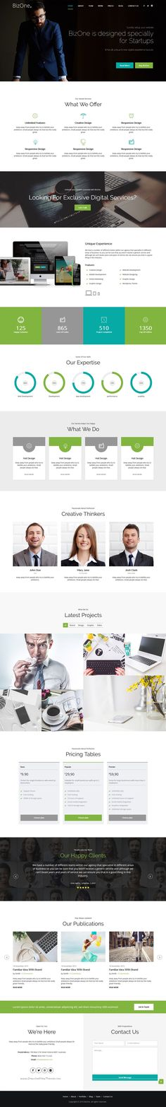 BizOne is One Page Parallax, Responsive #Bootstrap HTML5 Template suitable for any creative or #business #startups website. Download Now!