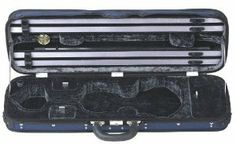Gewa Maestro 4/4 Oblong Violin Case, Blue and Anthracite by Gewa. $399.00. High quality case made in (and sent from) Germany  Gewa Oblong Violin Case: Liuteria Maestro 4/4  Thermo shell Padded suspension system Weight approx. 2,8 kg screw attached cover with music sheet pocket, water repellent GEWA swivel type holder patented flexible bow holder blanket Accessory compartments Leather handle 2 detachable Neopren rucksack straps  colours:  Exterior Tex blue Interior plush anthracite