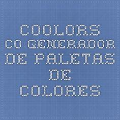 coolors.co Generador de paletas de colores