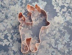 ecrandal FAWN handmade copper cookie cutter