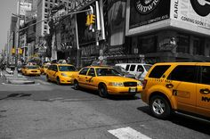 Yellow Cabs Photograph