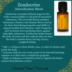 Zendocrine - Detoxification Blend - Essential Oil http://mydoterra.com/kimberlygoins