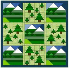 Free Earth Day Pattern: Elevation – AQS Blog