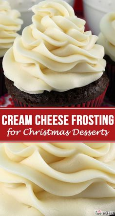 Need a Cream Cheese Frosting for your Christmas Desserts? This is the perfect Christmas Frosting and will make every Christmas Treat you make taste better! Easy to make and delicious to eat, this one is a keeper! Frosting Recipes, Cupcake Recipes, Cupcake Cakes, Dessert Recipes, Snacks Recipes, Cupcake Flavors, Cupcake Frosting, Candy Recipes, Bread Recipes