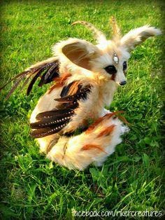 Fantasy Fennec Fox by Heidi.  (Heidi's personal collection)   Riker Creatures. Heiditruth.deviantart.com on @deviantART