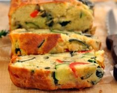 During the hot summer months, it's often more enjoyable to eat food that is light, simple, and doesn't require hours in the kitchen. This Veggie Loaf Cake is a cinch to make. The beauty about this loaf cake is. Healthy Cooking, Healthy Snacks, Cooking Recipes, Vegetable Recipes, Vegetarian Recipes, Healthy Recipes, Veggie Loaf, Veggie Cakes, Road Trip Snacks