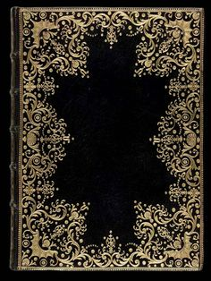 Black and gold - French Decorative Bookbinding - Eighteenth Century Pierre-Paul Dubuisson (fl - Decorative Tools Gothic Pattern, Victorian Pattern, Victorian Design, Victorian Gothic, Vintage Pattern Design, Book Cover Art, Book Cover Design, Book Design, Book Art