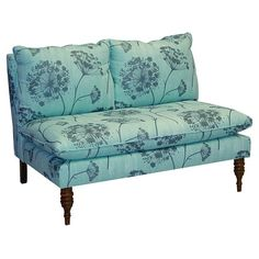 I pinned this Anne Settee in Aqua from the Elegant Living Room event at Joss & Main!