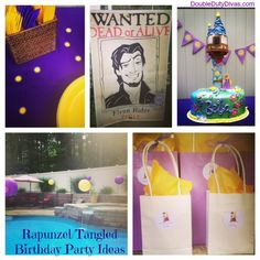 Disney's Tangled Rapunzel Birthday Party Ideas via @DoubleDutyDivas & @CoolBabyKid