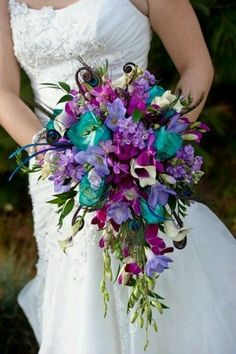 Red, teal, and purple.