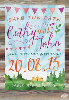 watercolour wedding save the date cards http://www.wedfest.co/wedding-save-the-date-cards/