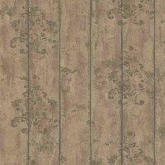 Papel pintado madera marrón con detalle vintage PDW9691211