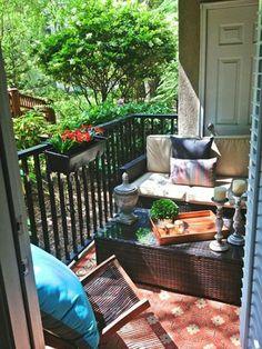 Small Balcony Design, Tiny Balcony, Small Balcony Decor, Balcony Ideas, Patio Ideas, Balcony Decoration, Small Balconies, Landscaping Ideas, Apartment Balcony Decorating