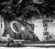 Dalgalan sen de şafaklar gibi ey şanlı hilal! - Mehmet Akif Ersoy / İstiklal Marşı (Kaynak: Instagram - suretiadem) #sözler #anlamlısözler #güzelsözler #manalısözler #özlüsözler #alıntı #alıntılar #alıntıdır #alıntısözler #şiir #edebiyat #mehmetakifersoy #istiklalmarşı #türkiye #vatan #bayrak Tapestry, Black And White, Feelings, History, Instagram, Wallpapers, Hanging Tapestry, Tapestries, Historia