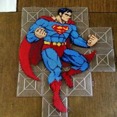 DC Superman perler bead sprite by klep2024