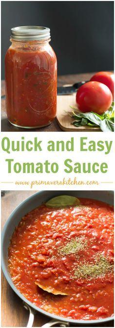 How to make Basic Tomato Sauce - primaverakitchen.comFollow my personal GFDF Board: @hannah_hansen2 https://www.pinterest.com/hannah_hansen2/gfdf/