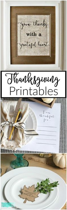 Here's a list of Free Thanksgiving Day printables from decor and artwork, to leftovers and meal prep. Everything you'll need for a successful and fun holiday!