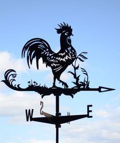 Gallo gallina veleta metálica techo Monte viento Decor
