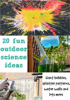20 fun outdoor science ideas #Science