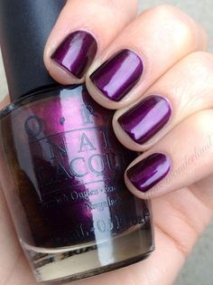 Plum Full of Cheer by OPI - nails - Looks que van con Mosca Footwear 2013