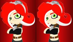 Splatoon - Octoling girl with and without shadows by DJUMD.deviantart.com on @DeviantArt
