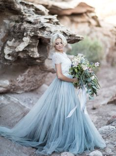 gorgeous blue bottom gown