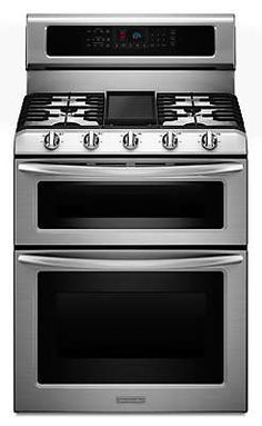 30-Inch, 5-Burner Freestanding Double Oven Range with Even-Heat™ Convection (KDRS505XSS ) |