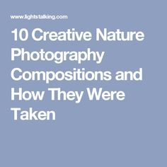 10 Creative Nature Photography Compositions and How They Were Taken