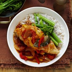 Chicken, capsicum and tomato casserole | Healthy Recipe | Weight Watchers AU