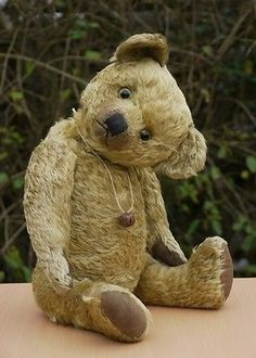 "Lovely Antique Vtg British Teddy Bear "" Olly"" 1920s Terrys? Teddy Toys?"