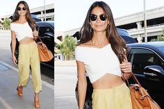 Look casual chic per la top model Lily Aldridge