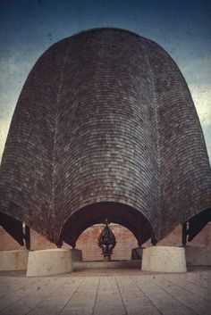 Roofless Church designed by Philip Johnson in 1960 for New Harmony, Indiana. - Google Search