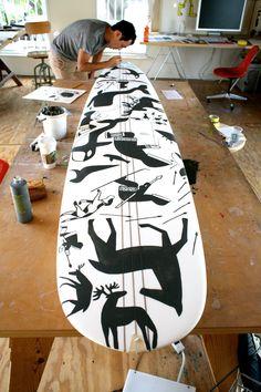 Creative Surf, Ridiculous, Good, Dude, and Illustration image ideas & inspiration on Designspiration Geoff Mcfetridge, Artist Film, Surfboard Art, Deck, Surf Style, Snowboards, Art Boards, Penny Boards, Design Art