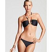 ViX Senegal Bandeau Embroidery Bikini Top & Senegal Detail Embroidery Full Bottom
