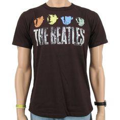 Logoshirt - Camiseta de manga corta, diseño de The Beatles, color marrón #camiseta #friki #moda #regalo