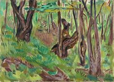 Rugged Tree Trunks in Summer ca. 1923 / Oil on canvas / 72 x 100 cm Munch Museum