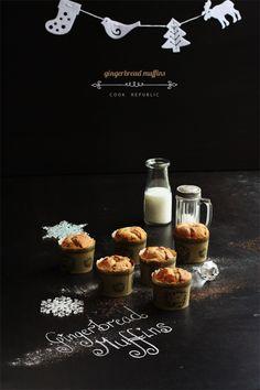 Gingerbread Muffins - Cook Republic #christmas #recipe