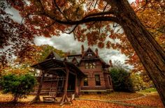 Mark Twain's house by Frank Grace