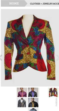 African print jacket -> yes please!